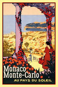 Monaco-Monte-Carlo-Pancarte-en-Tole-Signe-Metal-Voute-Etain-20-X-30-cm-CC0383