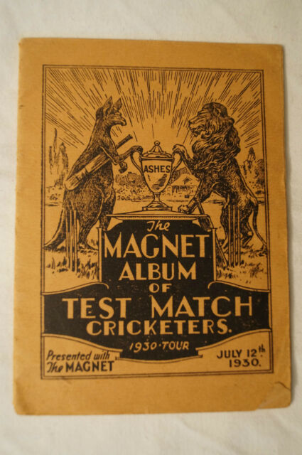 Cricket -Vintage -Collectable -1930 Ashes -Magnet Album of Test Match Cricketers