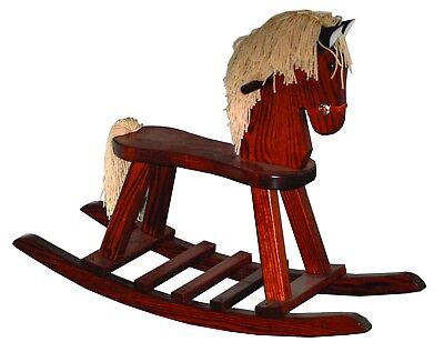 Marvelous Childrens Toys Heirloom Oak Childs Rocking Horse Amish Andrewgaddart Wooden Chair Designs For Living Room Andrewgaddartcom