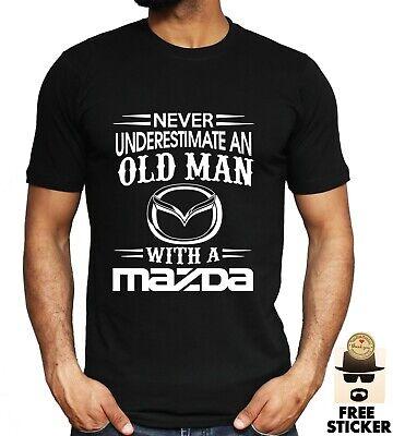 BIG TRUCKS Never Underestimate an Old Man Mens T Shirt DAD GIFT S 5XL Black