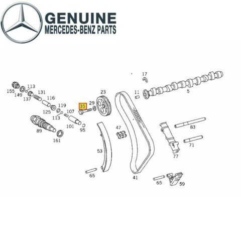 For Screw Camshaft Gear to Camshaft Genuine 6010510071 for Mercedes-Benz
