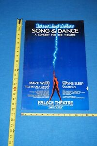 ORIGINAL BROADWAY POSTER Song and Dance by Andrew Lloyd Webber Card
