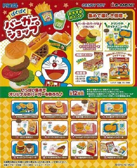 Re-ment Miniature Doraemon Fast Food Burger Shop Full set of 12 pieces