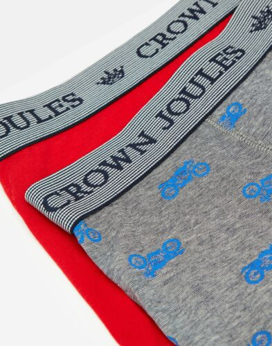 Joules Mens Crown Joules Boxers 2 Pack Wheelie Lovely