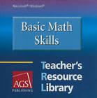 Basic Math Skills: Teacher's Resource Library by American Guidance Service (CD-Audio, 2006)