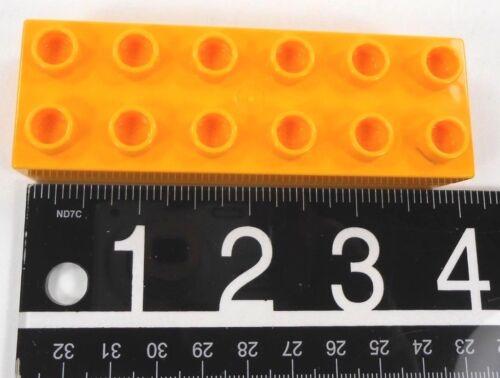 2 2 Lego Duplo Bricks 2 X 6 Flat canary yellow