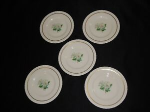 5-Hanover-China-Silver-Rose-6-1-4-034-Bread-Butter-Plates