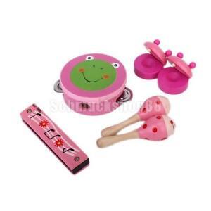 1 Paar Baby-Holzspielzeug Frosch Runde Castanet Musikinstrument Spielzeug F1N2 Musikinstrumente