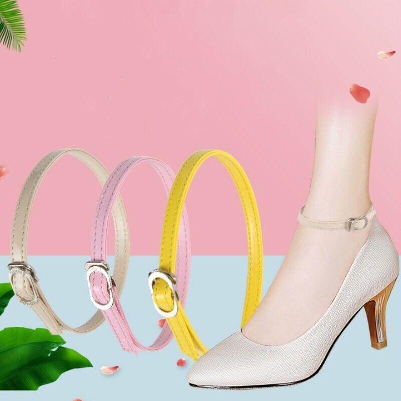 1 Pair Genuine Leather Adjustable Shoe Strap Belt Band High Heels Shoelace
