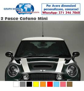 Adesivi-MINI-COOPER-fasce-COFANO-strisce-MINI-bonnet-stickers-cofano-ONE-D-S-SD