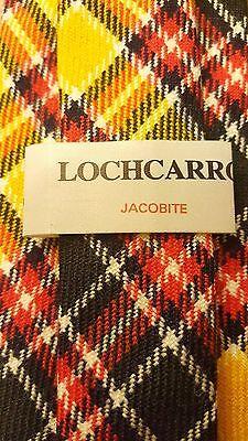 "Vintage, Lochcarron - Jacobite, Yellow, Wool, Plaid, Skinny, Neck Tie (58"")"