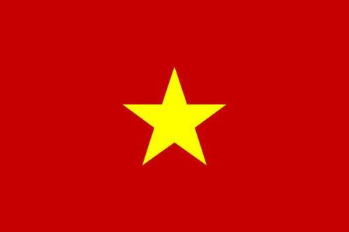 Aufkleber Vietnam Flagge Fahne 8 x 5 cm Autoaufkleber