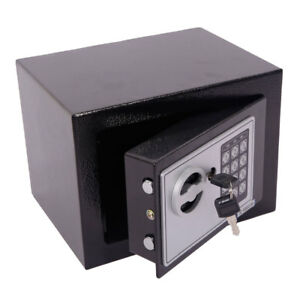 Image Is Loading Small Black Steel Digital Electronic Safe Coded Box