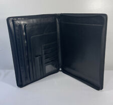 Franklin Covey Black Faux Leather Classic Planner Zipper Organizer 10x125