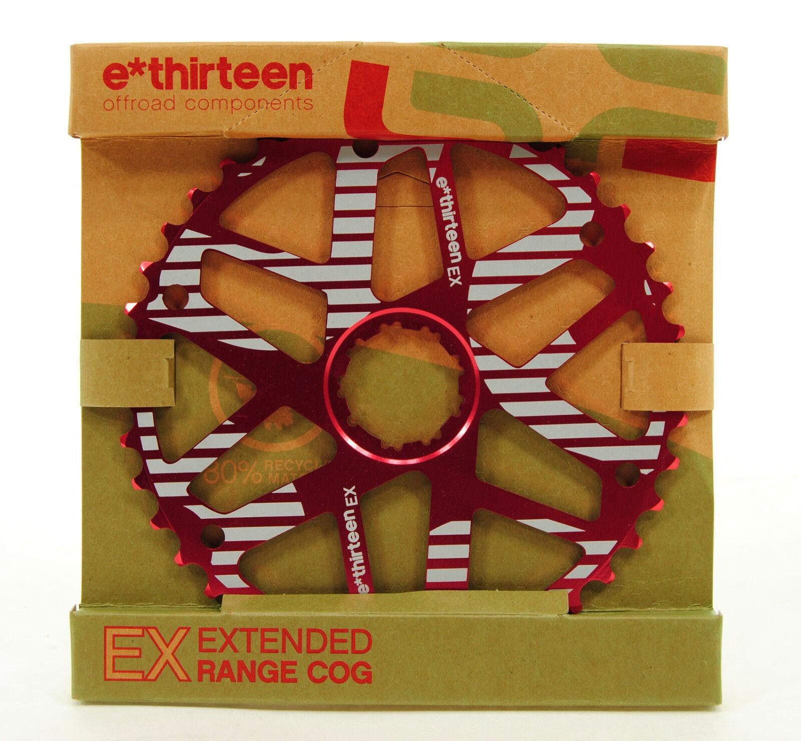 Ethirteen Extended Range Cog 40t, Shimano 34t Compatible, Red