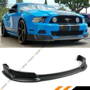 2013 Mustang Front Bumper >> Details About For 2013 2014 Ford Mustang Gt V6 V8 Lower Front Bumper Lip Splitter Chin Spoiler