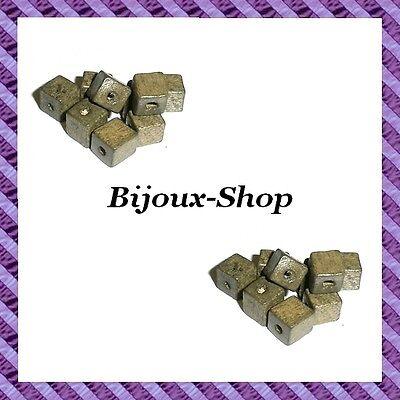 Lot de 100 perles cube bois 6x6mm