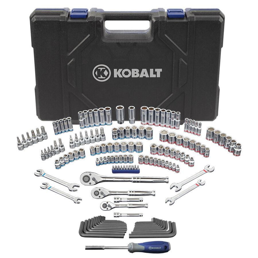 Kobalt Standard (SAE) and Metric Mechanic's Tool Set with Hard Case (154-Piece)