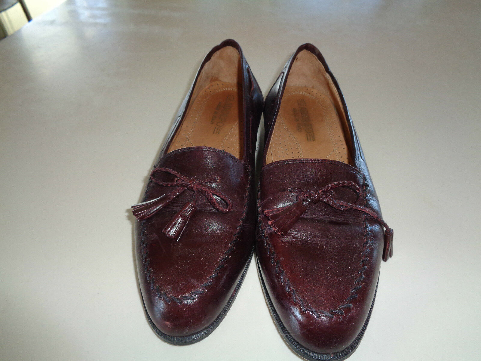 Adolfo Brown Leather Loafers EUC w/Tassels & Braided Ties EUC Loafers 8.5M 24d370