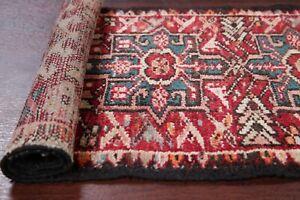 Antique-TRIBAL-Gharajeh-Heriz-Persian-Runner-Rug-Oriental-Geometric-Wool-2-039-x-5-039