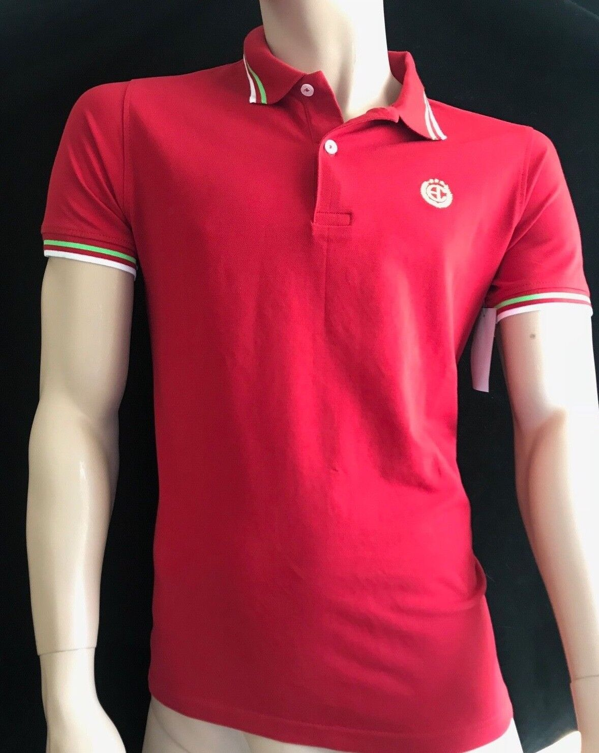 BNWT ENRICO COVERI Sportswear Stylish Polo Hemd Größe M see below SAVE