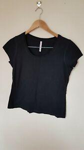 Ladies-Black-T-Shirt-Size-12-14-Next-lt-CX3239