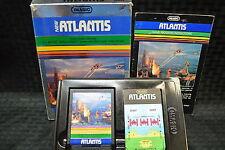 ATLANTIS NEW INTELLIVISION  CARTRIDGE 1982 Two OVER LAYS Booklet VGI 003