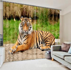 Cortina De Foto 3D Tigre Pintura Blockout Impresión Cortinas Cortinas Ventana De Tela nos