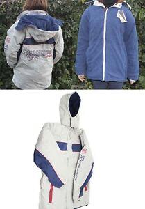 La imagen se está cargando Cazadora-sport-impermeable-reversible-abrigo- gorro-forro-polar- 2fc9185c4ca