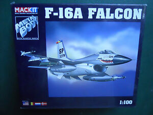 ARMOUR-1-100-MACKIT-KIT-METAL-AVIoN-F-16-UN-HALCoN-MINT-BOX
