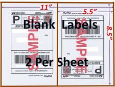 200 Shipping Labels Half Sheet Blank Labels Usps 85 X 55 Self Adhesive Labels