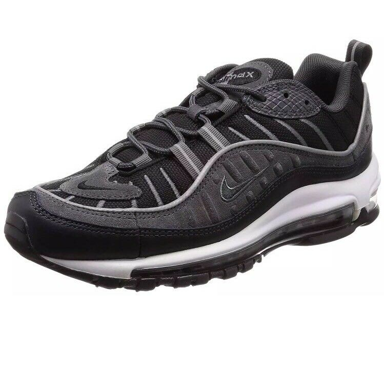 NWT Mens Nike Air Max 98 SE Running shoes  - Black & Grey - AO9380-001 - SZ-8.5