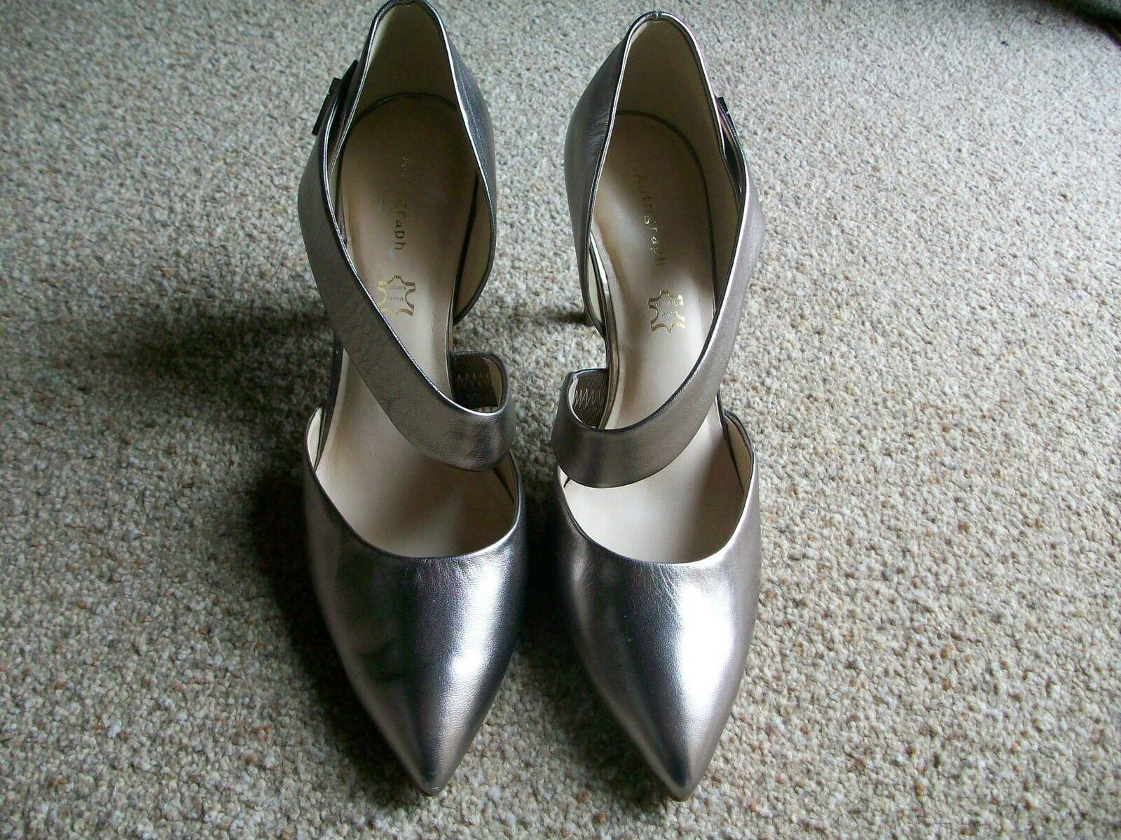 Autograph Metallic Leder Strap Court Schuhes, Größe 8 8 Größe (Eur.42), M&S, BNWT fedd21