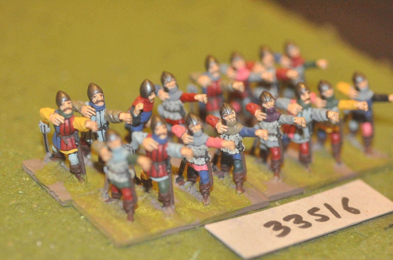 25mm medieval   english - archers 16 figures - inf (33516)