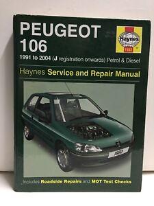 peugeot 106 1991 to 2004 haynes 1882 service and repair manual j rh ebay co uk New Peugeot 106 Peugeot 202