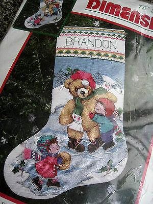 Dimensions Christmas Stocking Kits.Dimensions Christmas Needlepoint Stocking Kit Skating Bear Friends Morehead 9098 Ebay