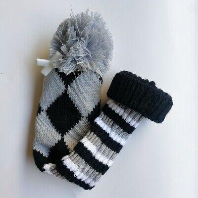 1pc Grey Knitted Pom Pom Headcover Knit Golf Club Head Cover For Hybrid Ebay