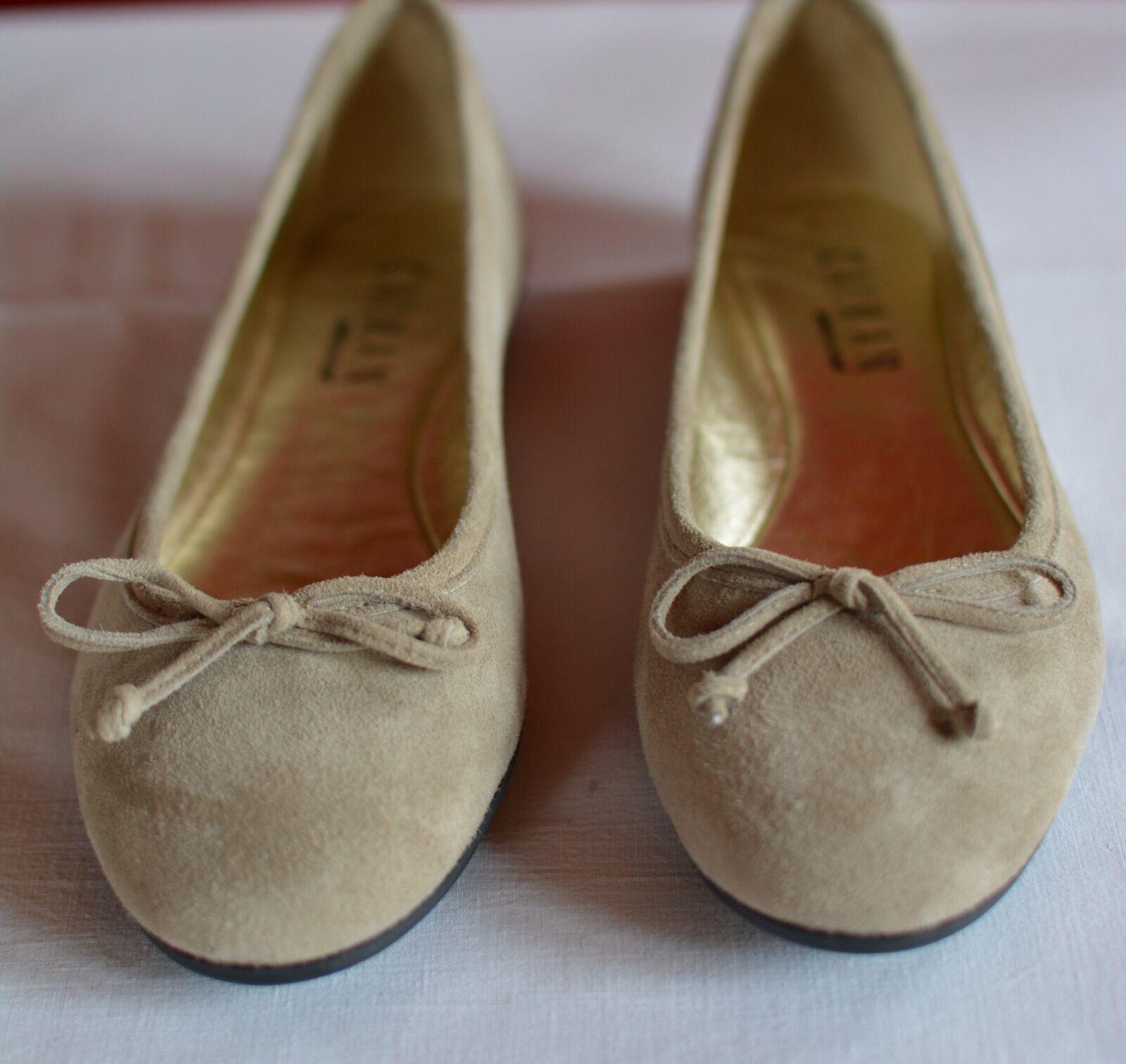 in made Caiman, Marke der Leder Ballerina heller Gr. Velour