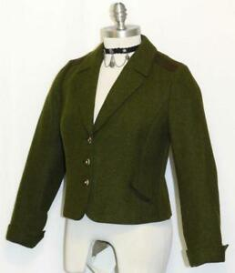 Green Wool German Women Winter Hunting Riding Dress Suit Jacket
