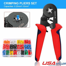 Crimper Plier Terminal Wire Connector Ferrule Tube Terminals 025 10mm 23 7awg