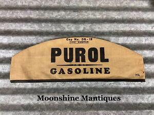 Original 1939 **Sample** PURE PUROL GASOLINE Service Station Attendant Hat