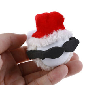 Santa-Claus-Happy-Face-With-Wool-Hat-Car-Antenna-Pen-Topper-Aerial-Ball-EVA-L-JT