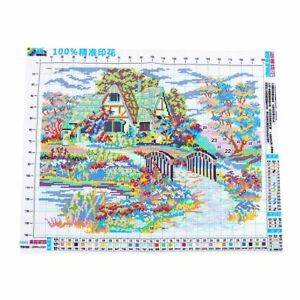 T8-Needlework-DIY-DMC-Cross-stitch-Sets-For-Embroidery-kits-scenery-clock-home-D