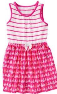 NWT Girl/'s Gymboree Hop n/' Roll blue white striped summer dress ~ 4 5 7 8