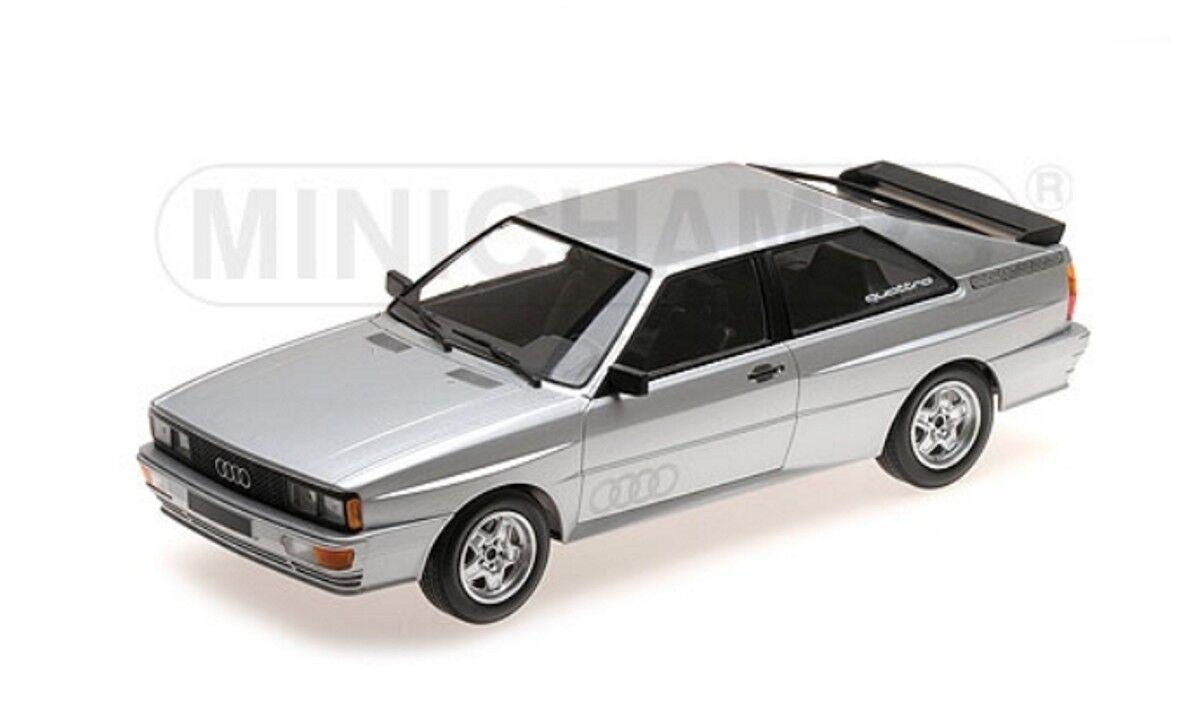 Audi Quattro 1980 en argento 1 18 Minichamps 155016122 nuevo & OVP