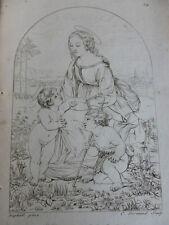GRAVURE PEINTURE /  LA VIERGE DITE LA BELLE JARDINIAIRE Raphael