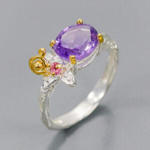 Amethyst-Ring-Silver-925-Sterling-Handmade-Size-7-R136008