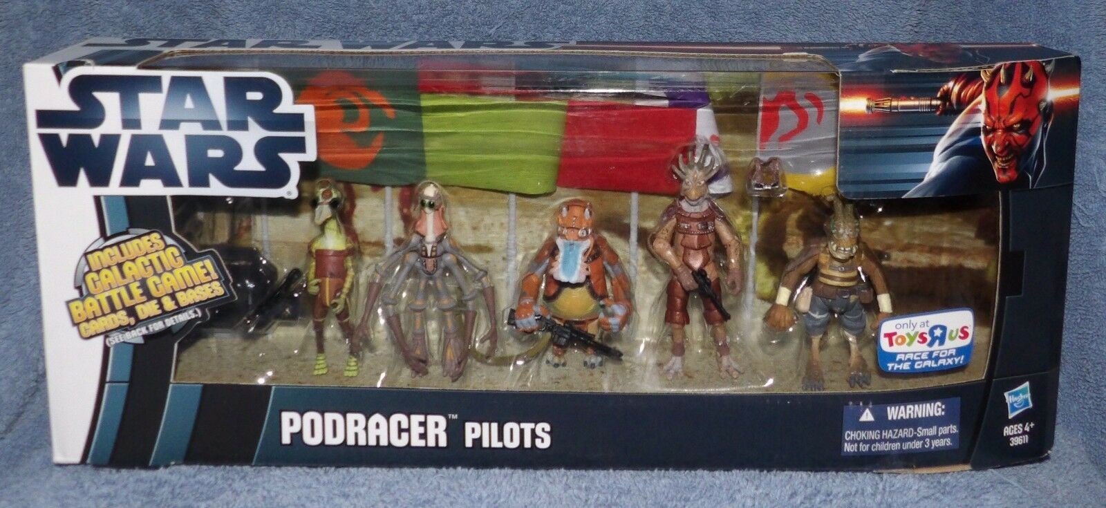 STAR WARS PODRACER PILOTS SET TOYS R US EXCLUSIVE WITH GALACTIC BATTLE CARDS