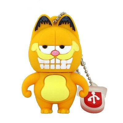 Cute Garfield model USB 2.0 Memory Stick Flash pen Drive 4GB 8GB 16GB 32GB P116
