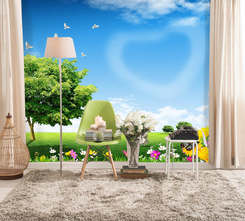 3D Natur Frühling 743 Tapete Wandgemälde Tapete Tapeten Bild Familie DE Summer | Moderne Muster  |